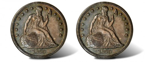 1869 Liberty Seated Silver Dollar