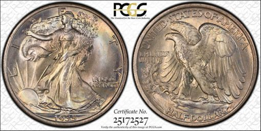 1935 50c Forsythe MS68