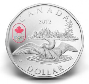 2012 $1 Lucky Loonie Silver Coin