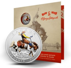 2012 25-Cent Calgary Stampede 100th Anniversary Coin & Stamp Set