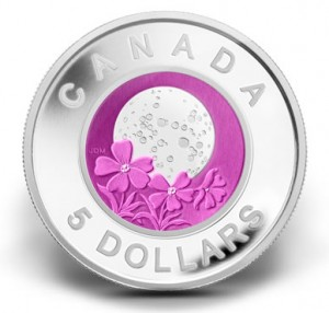 2012 $5 Full Pink Moon Silver and Niobium Coin