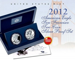 2012-S American Silver Eagle Two-Coin Proof Set