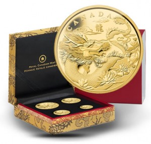 2012 Year of the Dragon Gold Fractional Coin Set