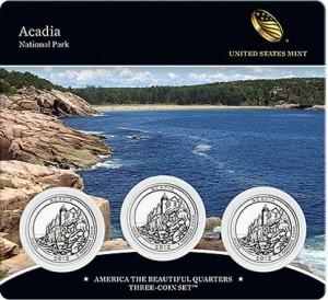 Acadia Quarter Three-Coin Set