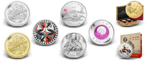 Canadian 2012 Collector Coins Celebrating Anniversaries and Milestones