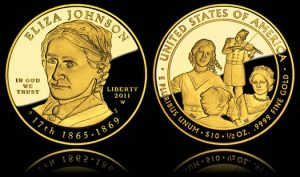 Eliza Johnson First Spouse Gold Proof Coin