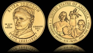 Eliza Johnson First Spouse Gold Uncirculated Coin