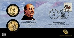 Grover Cleveland (First Term) Presidential $1 Coin Cover