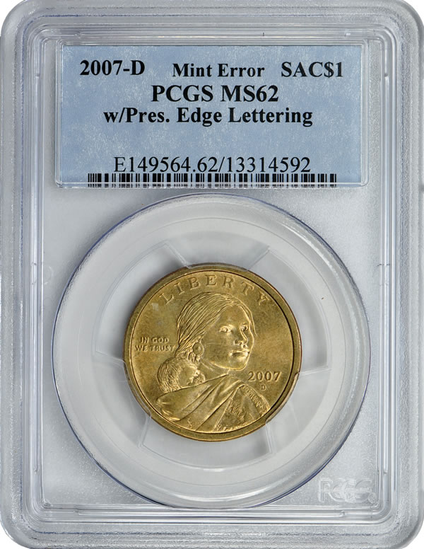 Sacagawea $1 Error Coin Offered in GreatCollections Auction | Coin News