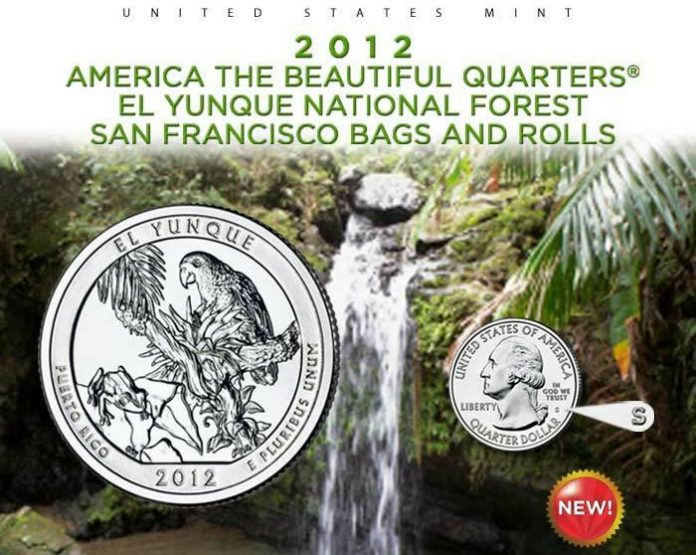 US Mint Promotion image of the 2012-S El Yunque Quarter