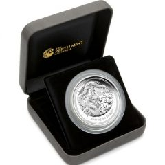 Year of the Dragon Five Ounce Silver Proof Coin in Case