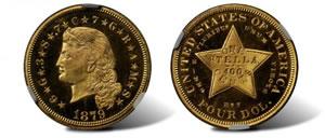 1879 Four-Dollar Gold Stella