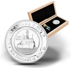 $20 50th Anniversary of the Canadian Coast Guard Silver Coin