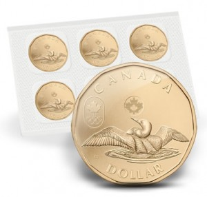 2012 $1 Lucky Loonie Circulation Coin