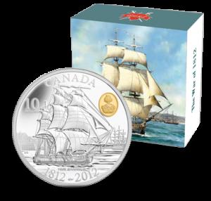 2012 $10 HMS Shannon Silver Coin