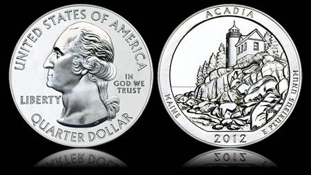 2012 Acadia National Park Five Ounce Silver Bullion Coin