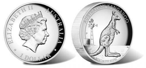 2012 Australian Kangaroo High Relief Silver Proof Coin