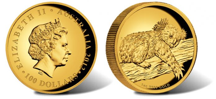 2012 Australian Koala Gold Proof Coin - 1 Oz. High Relief