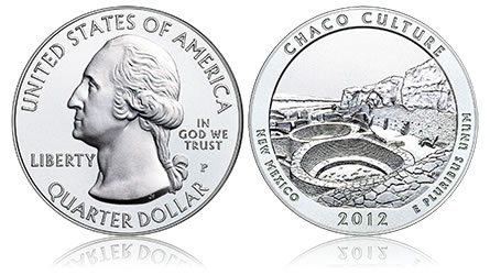 2012-P Chaco Culture National Historical Park Five Ounce Silver Uncirculated Coin