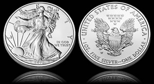 2012 Uncirculated American Eagle Silver Coin