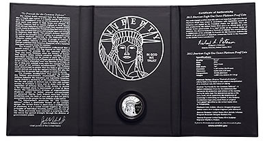 2012-W Proof American Eagle Presentation Case