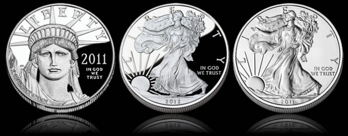 American Eagles – Proof Platinum, Proof Silver and Uncirculated Silver