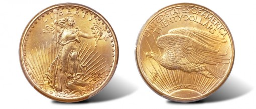 Gem 1921 Saint-Gaudens Double Eagle