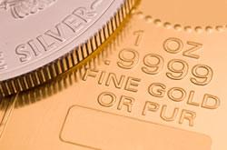 Gold bar, American Silver Eagle