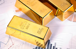 Gold bars and Chart