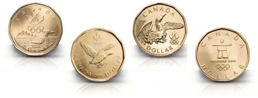 Lucky Loonie Coins (2004, 2006, 2008, 2010)