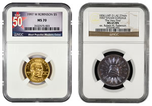 NGC Certified Medal and Coin