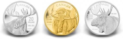 Robert Batmen Desinged Moose Coins in Silver, Gold and Platinum