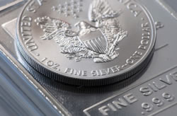 Silver Bar and US Bullion Coin