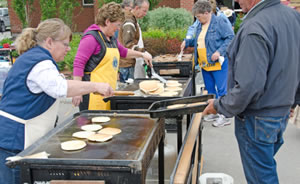 Small Town Lion's Club Pancake Breakfast in Okotoks, Canada
