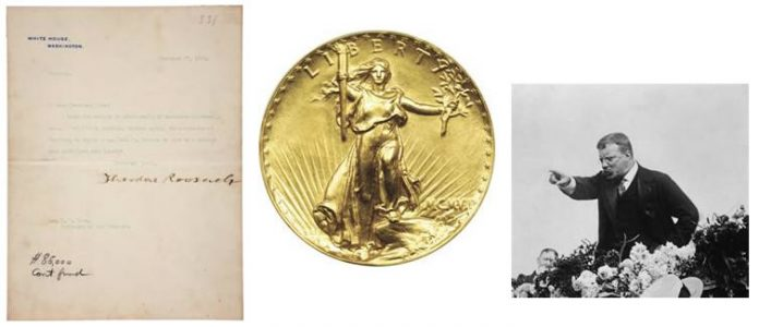 Teddy Roosevelt Letter Seeking Coinage Redesign