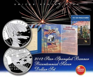 U.S. Mint image of Star-Spangled Banner Coins