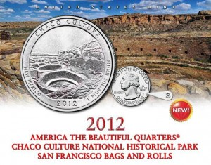 US Mint image of 2012-S Chaco Culture Quarter