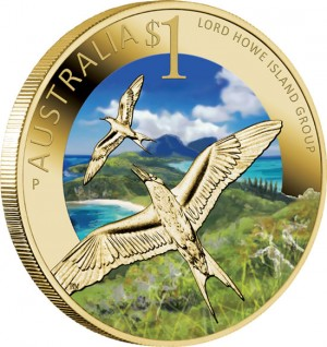 World Heritage Site Lord Howe Island Group $1 Coin