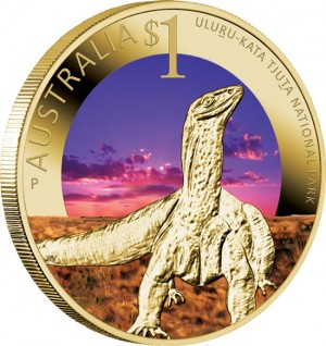 World Heritage Site Uluru-Kata Tjuta National Park $1 Coin