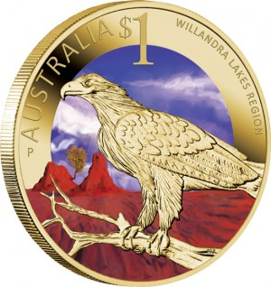 World Heritage Site Willandra Lakes Region $1 Coin