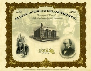 150th Anniversary Chase Intaglio Print