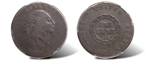 1793 Large Cent Chain 1C AMERI. VG10 PCGS. S-1, B-1, R.4