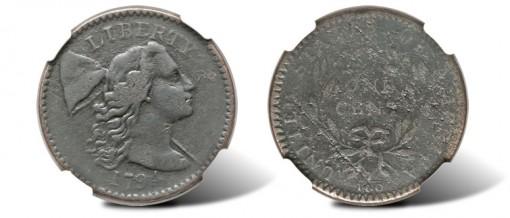 1794 Large Cent Starred Reverse