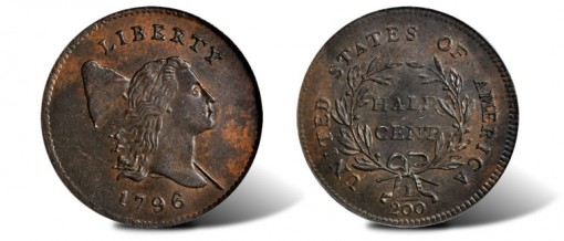 1796 Liberty Cap Half Cent