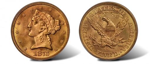 1876-CC half eagle