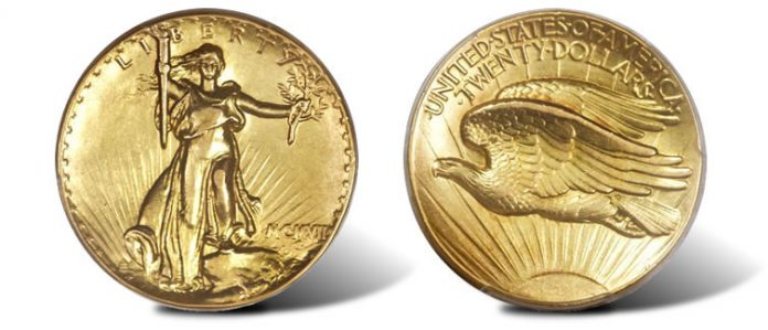 1907 Ultra High Relief double eagle
