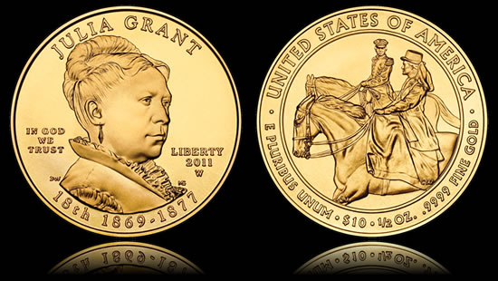 2011-W Uncirculated Julia Grant First Spouse Gold Coin