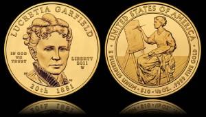 2011-W Uncirculated Lucretia Garfield First Spouse Gold Coin