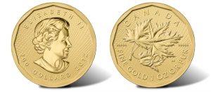 2012 .99999 Canadian Gold Maple Leaf bullion coin