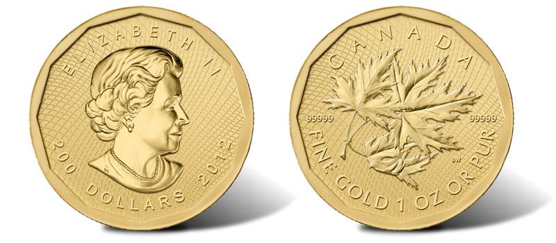 2012 99999 Gold Maple Leaf Bullion Coin Marks Anniversary